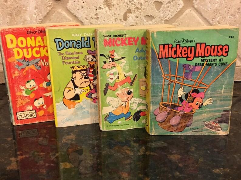 440cad4ef0b Four 4 Walt Disney BIG LITTLE BOOKS Mickey Adventure Outer