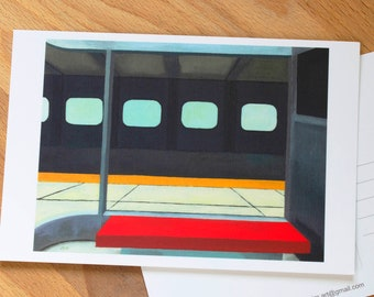 "Art Postcard 4"" x 6""  of Yorkdale Station #1, Toronto Art, Architecture art, mini art prints, Toronto Postcards, Canada art, city print"