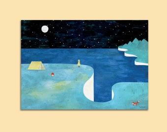 Starry island - Art Print