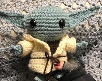 Baby Alien, the child, crochet amigurumi