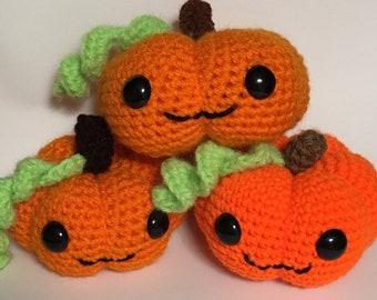 Halloween Pumpkin, Crochet Pumpkin, Amigurumi pumpkin, smiling pumpkin, pumpkin decoration, stuffed pumpkin, fall pumpkin, Kawaii