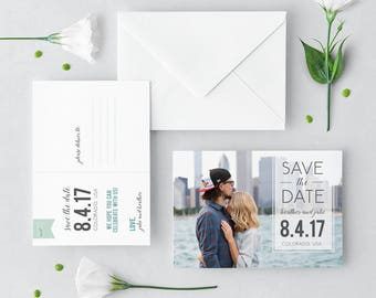 Custom Photo Save the Date Postcard