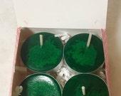 Christmas Pear Tree Tea Lights Set (4) - Handmade
