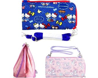 3e0be46c8 Sanrio Long Wallet Passport Holder Travel Document Organizer Bag Case with Removable  Cross-body Strap