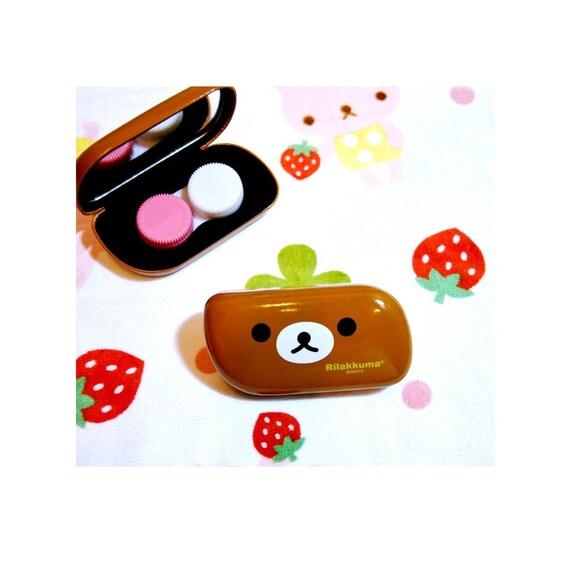 New San-X sumikko gurashi Travel Kit Contact Lens Case Storage Box KAWAII JAPAN
