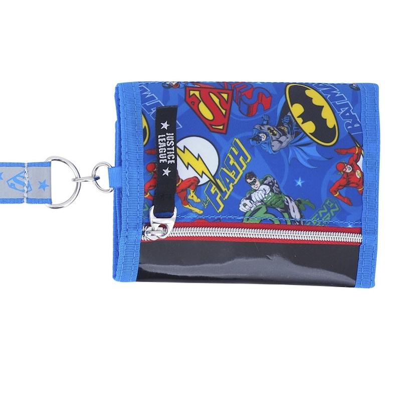 DC Comics Batman v Superman Tri-Fold WalletPurse with Coin Zip Compartment