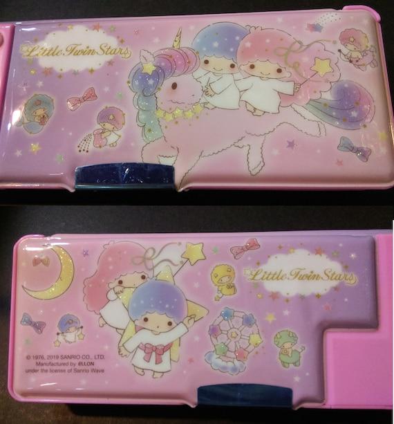 8c35b087a4fb Little Twin Stars Glitter Glue Multi Functional 2-Sided Holder Deluxe  Pencil Pen Box DIY Tool Storage Case w/ Sharpener