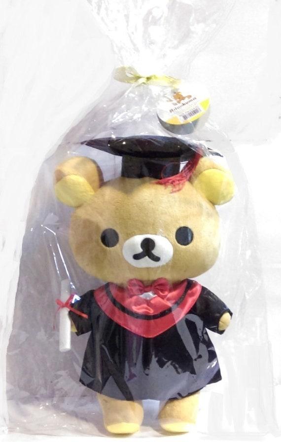 "12.5/""//14/""San-X Rilakkuma Graduation Plush Doll Fluffy Soft Stuffed Toy Grad Gift"