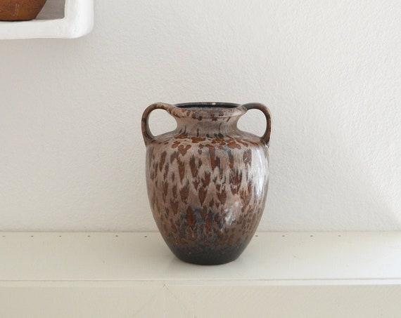 Vintage jug ceramic vase jug 1960s rust brown home décor mid century amphora West Germany studio pottery