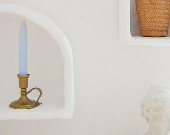 Vintage candlestick candle holder brass gold Art Nouveau