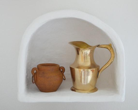 Vintage jug vase from brass jug 1960s brass home decor mid century danish design