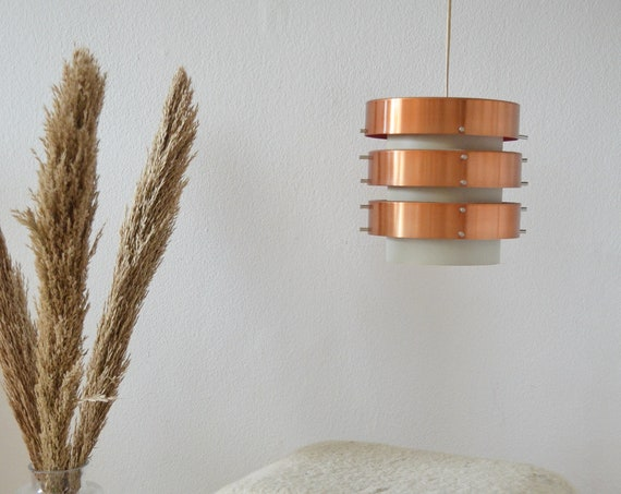Danish design copper hanging lamp