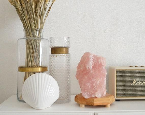 Large salt lamp rose quartz gemstone lamp table lamp boho