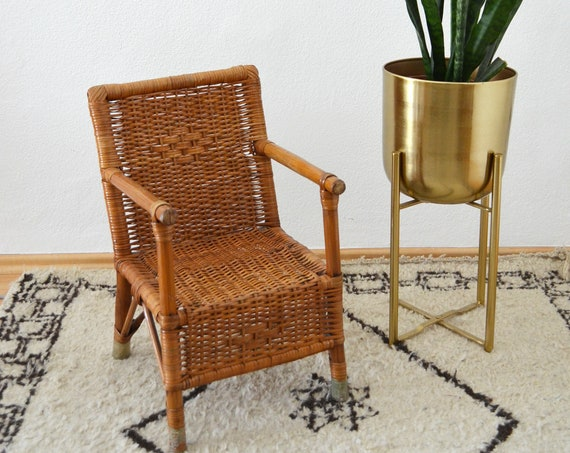 Vintage Children'S Rattan Chair rattan chair chair vintage children chair