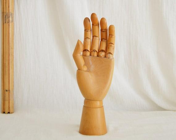 Vintage Wood Jewelry Hand Scandinavian