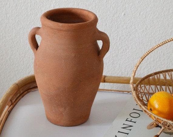 Vintage pitcher ceramic vase jug 1960s rust brown brown terracotta home decor mid century danish design studio ceramic