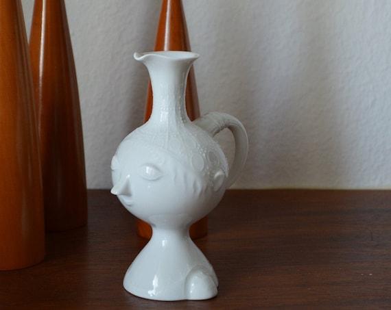 Vintage Rosenthal Vase Face Romance Björn Wiinblad White Kanne Kings