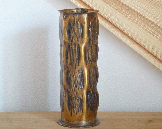 Vintage brass vase 1960s brass home décor mid century danish design