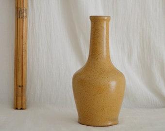 Vintage Ceramic Vase 1960s beige home decor mid century