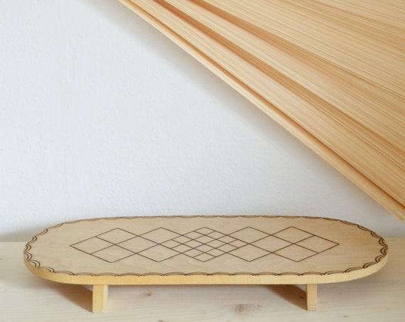 Bohemian pot coaster coasters vintage wood carved boho