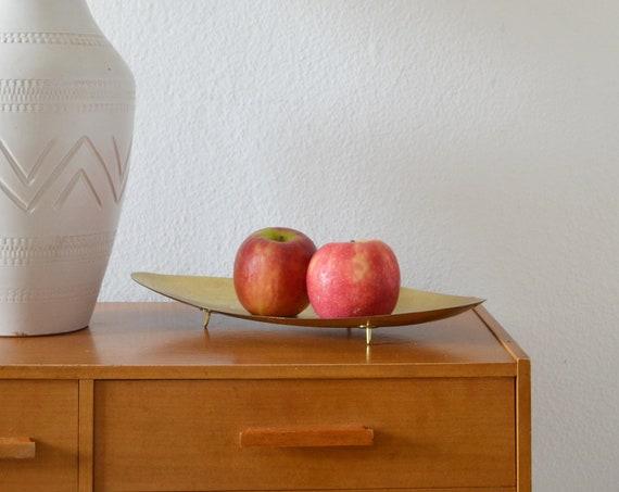 Banana ship fruit bowl mid century ship bowl danish design brass brass