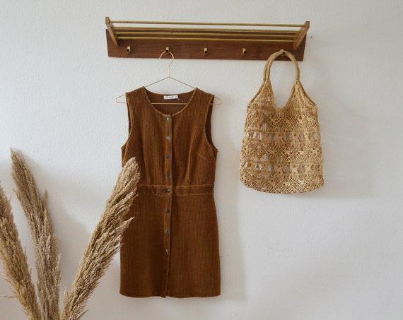 Wardrobe in wood & brass gold hat rack vintage