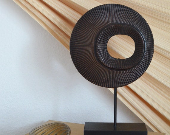 Wooden figurine circle boho decoration