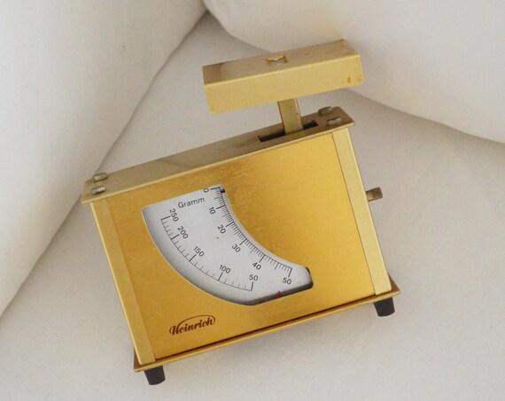 Vintage brass scales kitchen scales brass gold