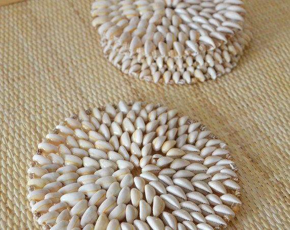 Set of 4 coasters Place set of shells 17 cm