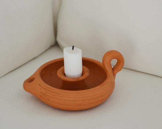 Candlesticks - ceramic terracotta handmade studio ceramic