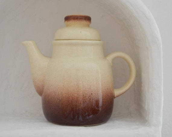 Vintage ceramic coffee jug - GDR GDR 1980s brown home décor