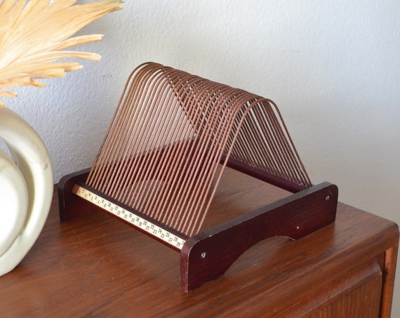Plattofix Vinyl Record Storage Records - Stand / Holder vintage wood