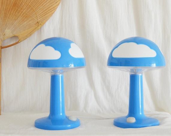 Vintage IKEA Table Lamp Blue Cloud Mushroom Mushroom Lamp