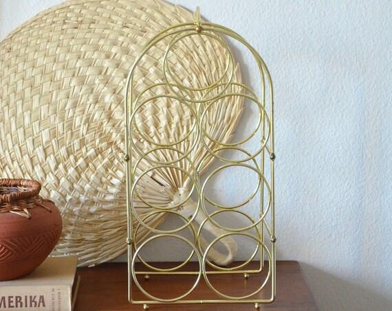 Vintage wine rack wine rack gold brass brass brass