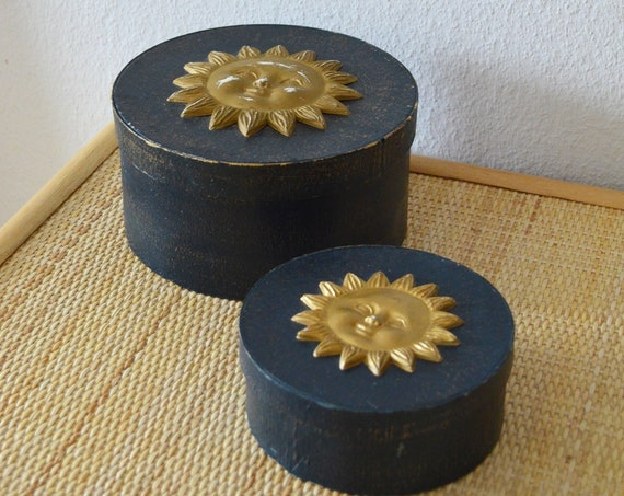 Set of 2 cans with lid casket sun