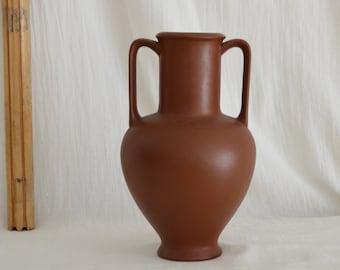 Vintage Jug Amphora Ceramic Vase Jug 1960s rust brown rust brown terracotta home decor mid century