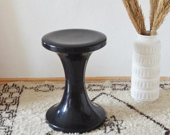 Tulips stool side table black