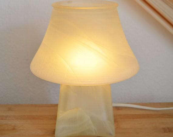 Murano glass lamp table lamp mushroom boheme beige