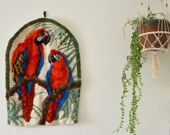 Wall Hang Parrot Jungle Boho Vintage