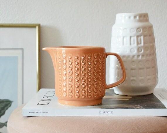 Vintage DDR milk Pot Pink-apricot Jug