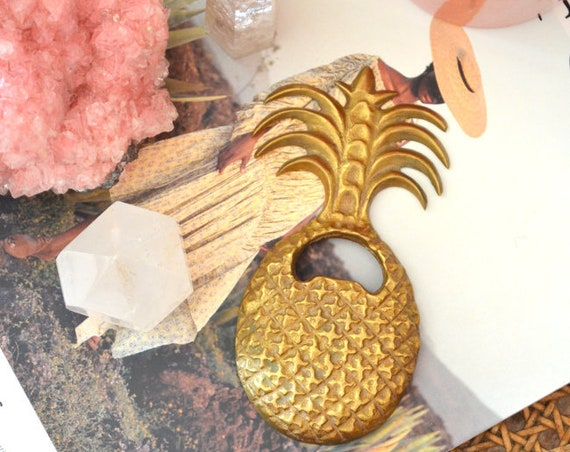 Brass Pineapple Bottle Opener Vintage