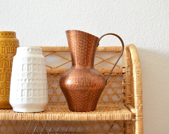 Vintage mug vase made of copper jug 1960 's copper home decor mid century Danish design