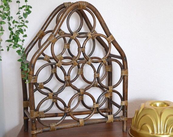 Vintage Bamboo Wine Rack Bamboo rattan