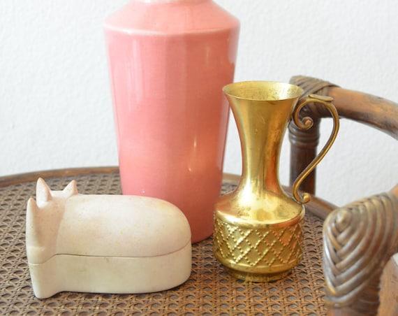 Vintage Brass Vase 1960 's brass home decor mid century Danish design
