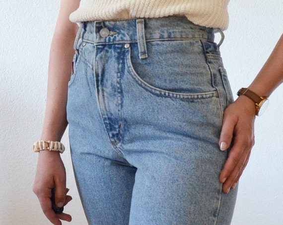 Vintage HIS Jeans Regular Fit Mom Jeans Size S 27/34 high waisted extra long tall woman