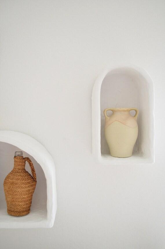 Reserved for Kate - Vintage West Germany Inca Ethno Amphora Vase with Handle beige boho
