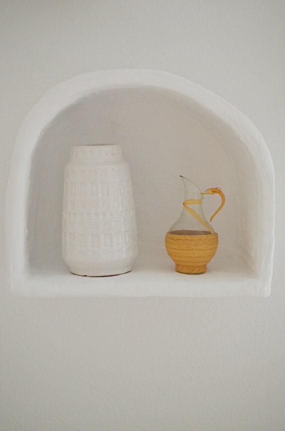 Vintage Inka Scheurich vase white white 18 cm boho mid century
