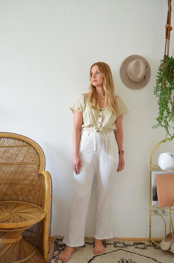 Vintage linen pants cream size M/38