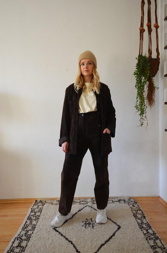 Vintage suede suit brown S/Meter suede suit brown