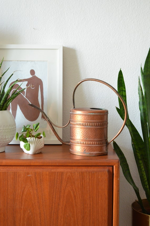 Copper watering cans vintage